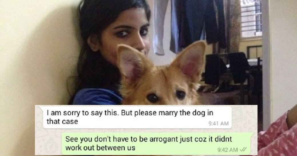 Girl Rejects Marriage Proposal Because Guy Didn't Like Her Dog